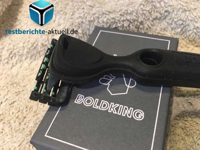 Boldking Rasierer Test Box